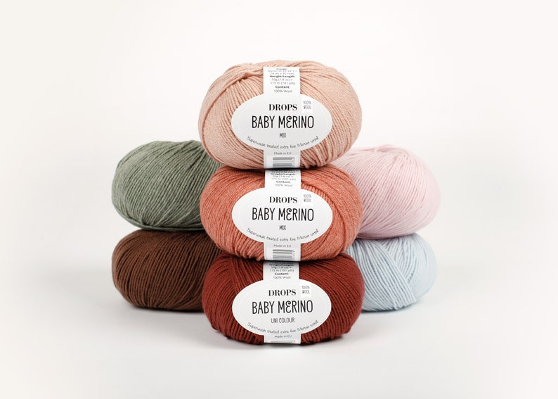 100% Baby Merino Yarn 50 colours Garnstudio DROPS Baby image 1