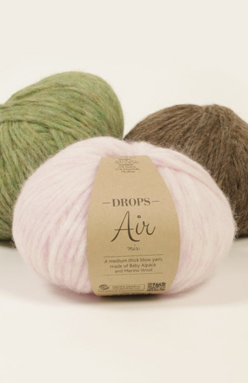 5bb4115f0553 Super soft baby alpaca yarn Garnstudio DROPS Design Air 70%