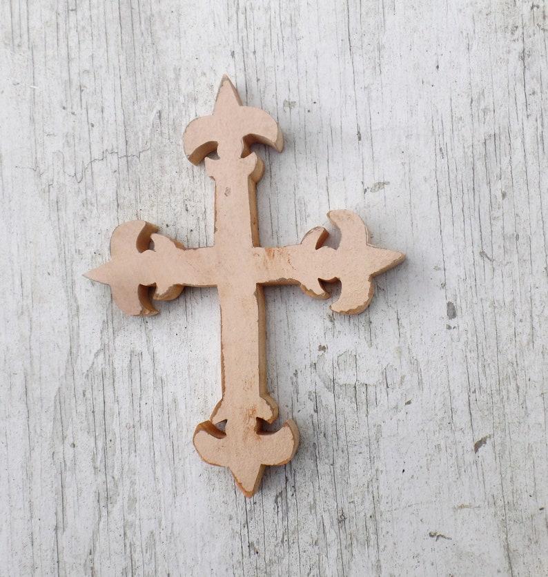 Fleur de Lis Kreuz, Kinderzimmer Dekor, zurückgefordert Holz Kreuz, Holz  Wand Kreuz, religiöse Dekor, Französisch Kreuz Dekor, Boho Cross, ...