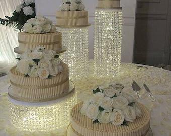 Cake Stand For Wedding/Wedding Cake Stand/Chandelier Cake Stand/Cascading Crystal  Cake Stand/Rhinestone Cake Stand/Bling Sparkly Cake Stand