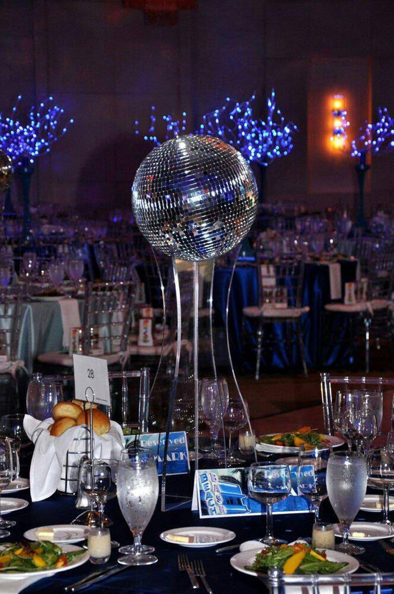 Wondrous Large Disco Ball Disco Ball Centerpiece 80S Disco Party Decor Beutiful Home Inspiration Xortanetmahrainfo