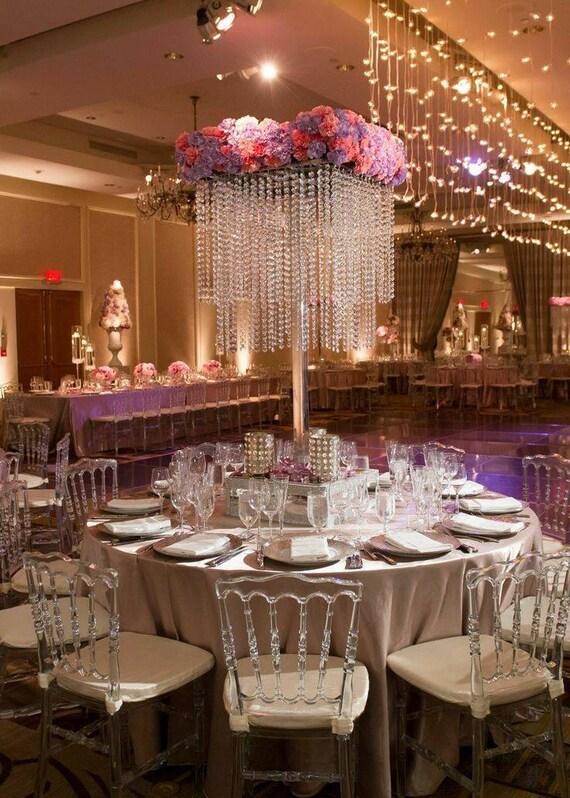 chandelier wedding centerpiece etsy rh etsy com crystal centerpieces for weddings tabletop chandelier centerpieces for weddings