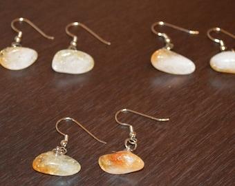 Citrine Earrings . Healing Citrine Earrings . Boho Citrine Earrings . Citrine Crystal Earrings . Citrine Jewelry . Healing Citrine