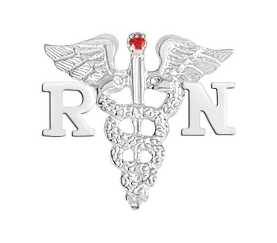 Sterling Silver RN Registered Nurse PIN