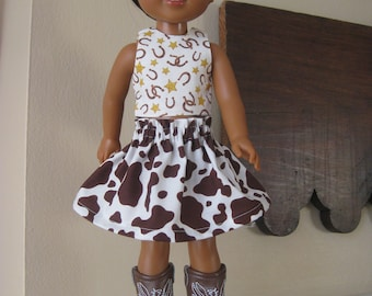 Horse Wellie Wishers Doll Clothes Cowgirl Horseshoe