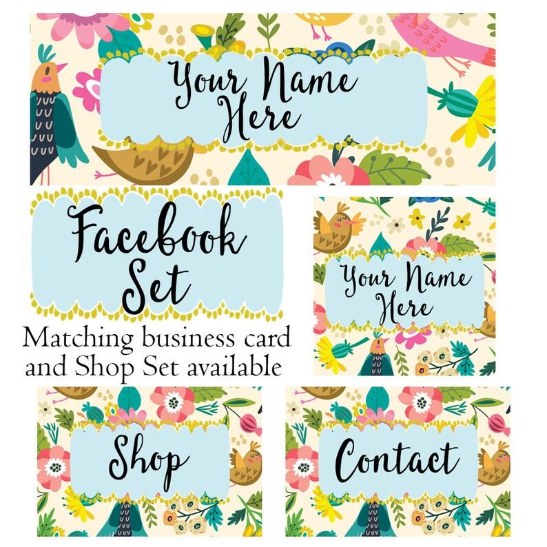 Facebook cover set customized social media header profile pic image 0
