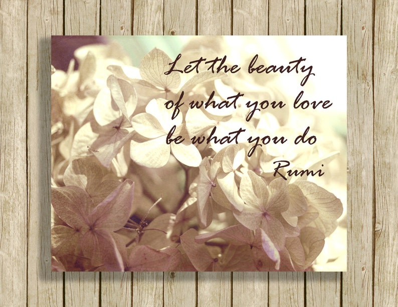 printable wall art Rumi quote Let the Beauty instant download image 0