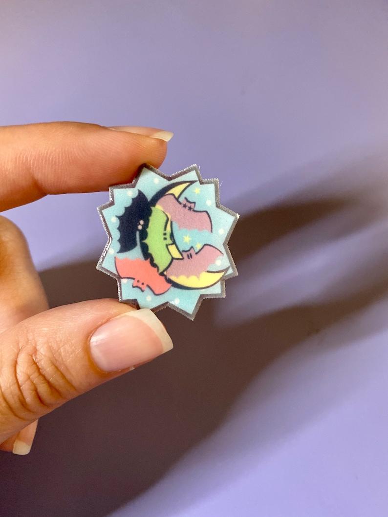 Bat pins  Bat lovers  Halloween pin
