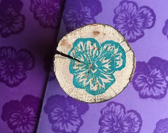 Pansy - Rubber Stamp (Choose a Design)