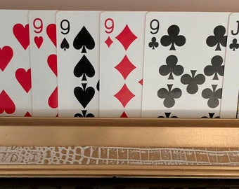 White with Gold Skin Playing Card Holder