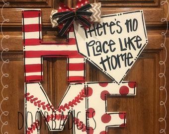 Home Baseball Door Hanger