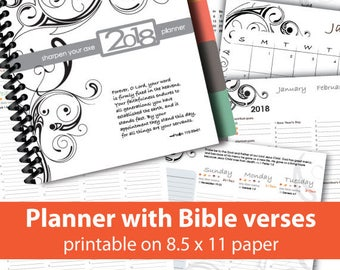 Printable Bible Reading Plan Weekly by Section | Etsy