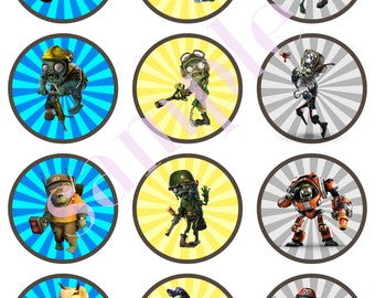 DIGITAL DOWNLOAD Plants vs  Zombies GW2 inspired toppers 12 | Etsy