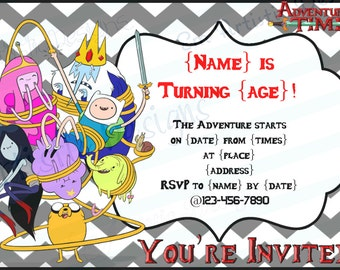 Adventure Time Invitations Etsy
