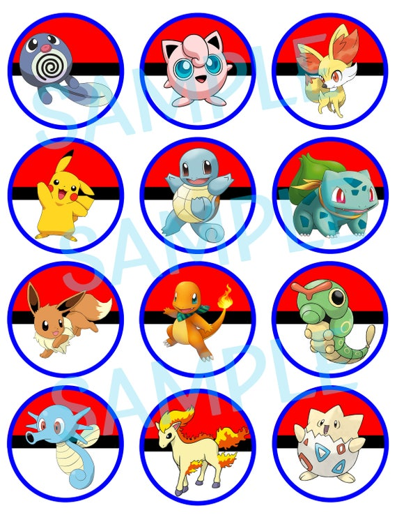Invaluable image within pokemon cupcake toppers printable