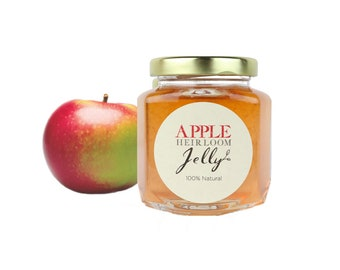 Gourmet Heirloom Macintosh Apple Jelly // All Natural // New Hampshire Home Grown // 6 oz