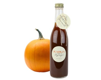 Gourmet Pumpkin Spice Simple Syrup // All Natural // New Hampshire Home Grown // 12 oz // Soda Syrup
