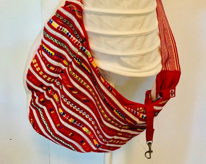 Artisan dog sling/ Mexican dog purse carrier/ Handmade pet carrier/ Mexican dog carrier/ Artisan Dog carrier
