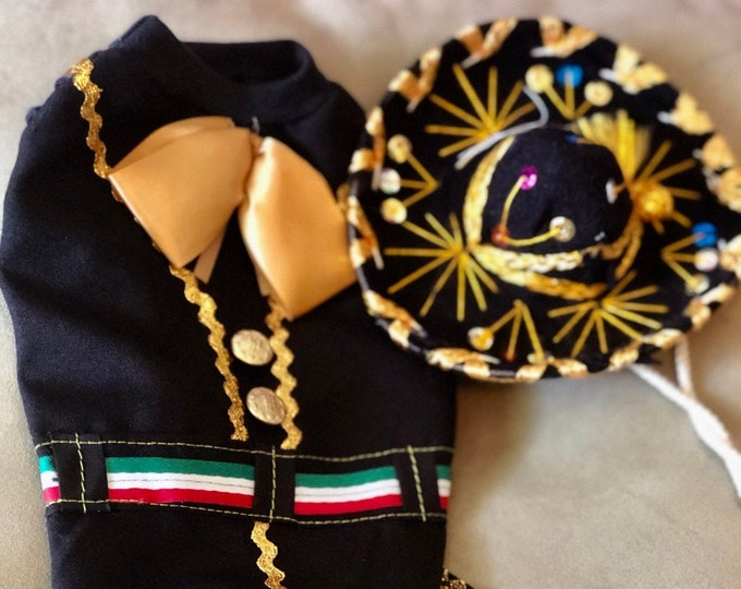 Mariachi Dog Costume/ Mariachi Outfit for dogs/ Mexican dog costume/ Mariachi dog girl outfit/ Mexican dog outfit/ Cinco de Mayo dog costume