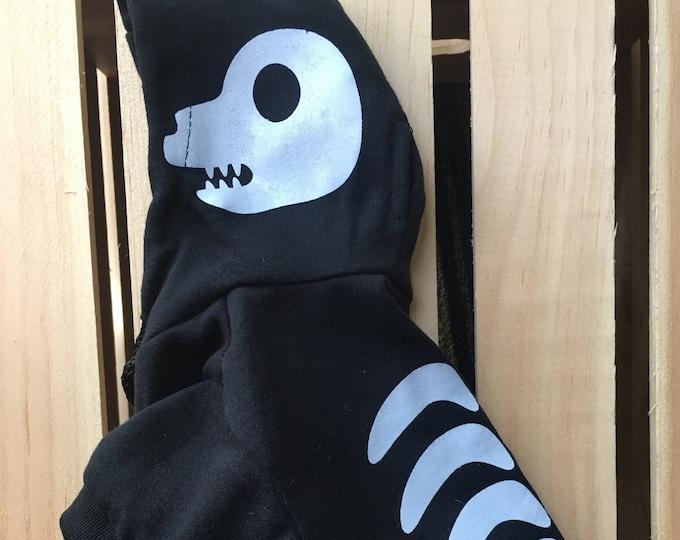Disfraz del esqueleto para perro/ Disfraz de calaca para perro/ Dia de muertos/ Disfraz de esqueleto que brilla en la noche