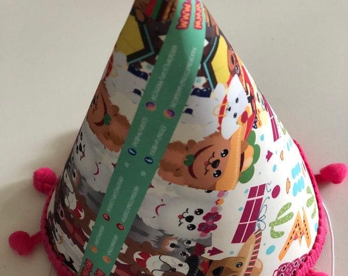 Happy Birthday hats for dog/ Party hats for dog/ Doh hats/ Birthday dog/ Party hats for big dogs