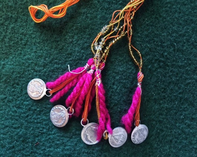 Mexican necklace/ Handmade necklace/ Rustic Necklace/ 50% is donated to a dog in need- MILAGRITOS ITEM