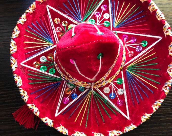 Mexican dog hat / Mariachi dog hats / Mexican Sombreros for dogs / Sombreritos Cinco de Mayo Large size