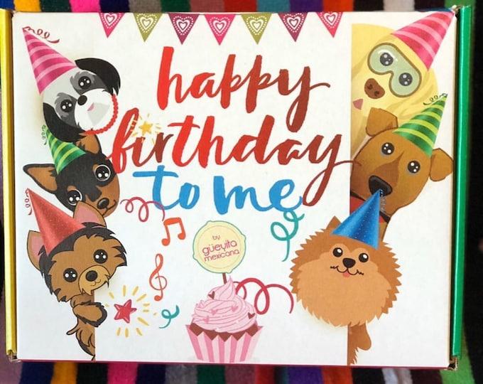 Set de cumpleaños para perro