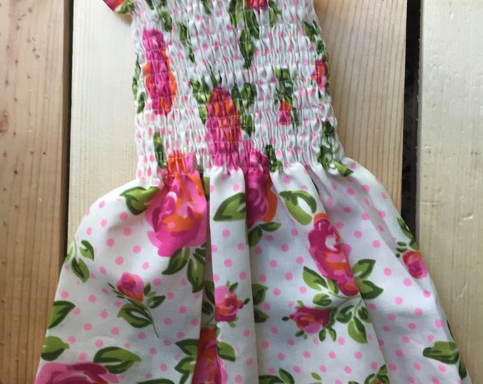 Smocked Dog dress/ Spring dog Dress/ Puppy Clothes/ Small dog dress/ Beautiful Dog girl dresses/ Small Dog girl dress