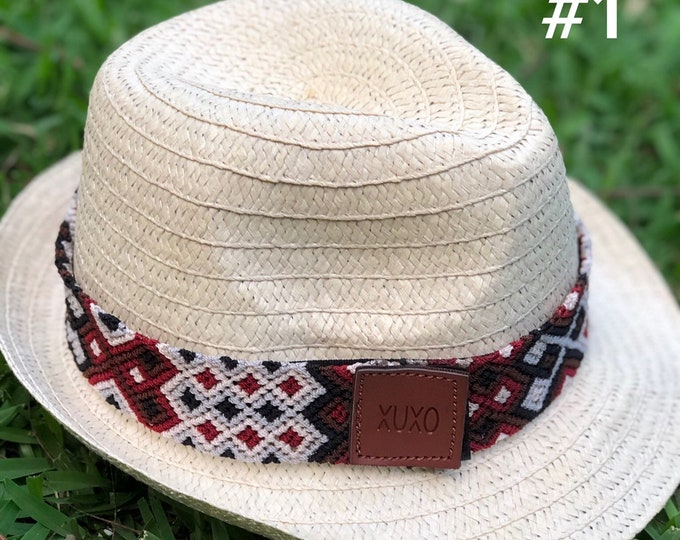 Ribbons for hats/ Colorful ribbon for you hat/ Handmade trim for Sunhats/ Mexican ribbon for hat
