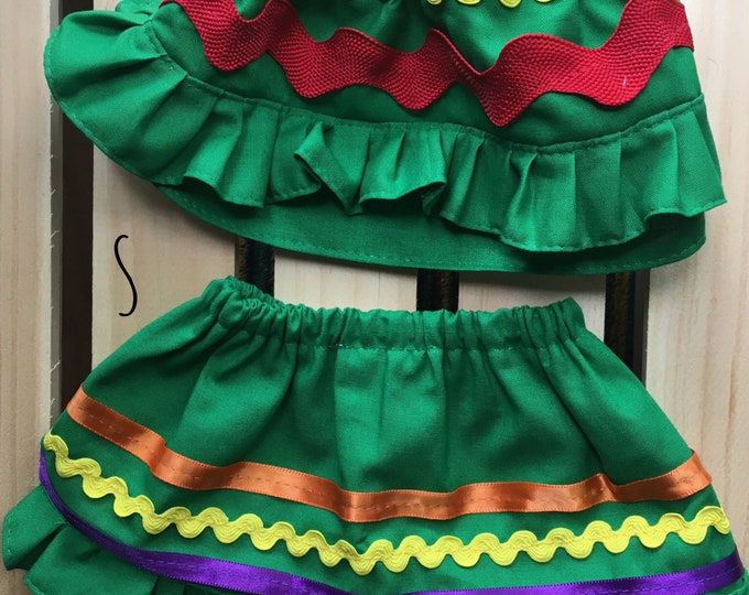 Mexican Dog skirts/ Folkloric dog skirts/ Colorful dog girl skirts/ Dog skirts