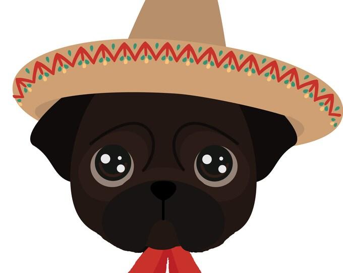 Plaquitas de icono femenino para perro/ Placas para perro/ Plaquitas para perro de Güeyita Mexicana/ Placas para perro para perritos