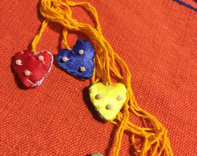 Handmade Necklace/Heart Necklace / Necklace with cause 50% is donated - MILAGRITOS ITEM