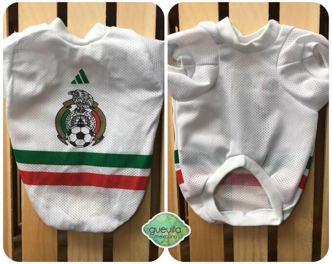 Camisetas para perro de Futbol Mexicano/ Camisetas para perro del mundial y Copa America