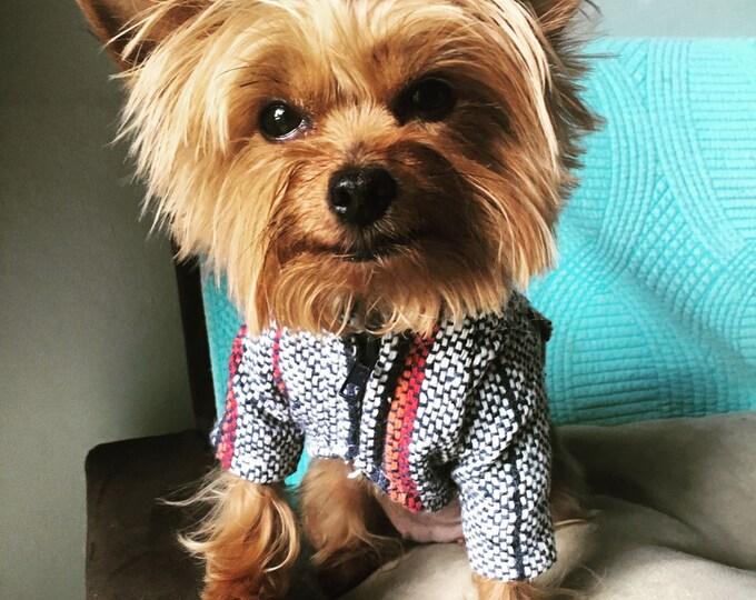 Poncho para perrito/ Ropa Mexicana para perro/ Chamarrita para perro/ Hoodie para perro