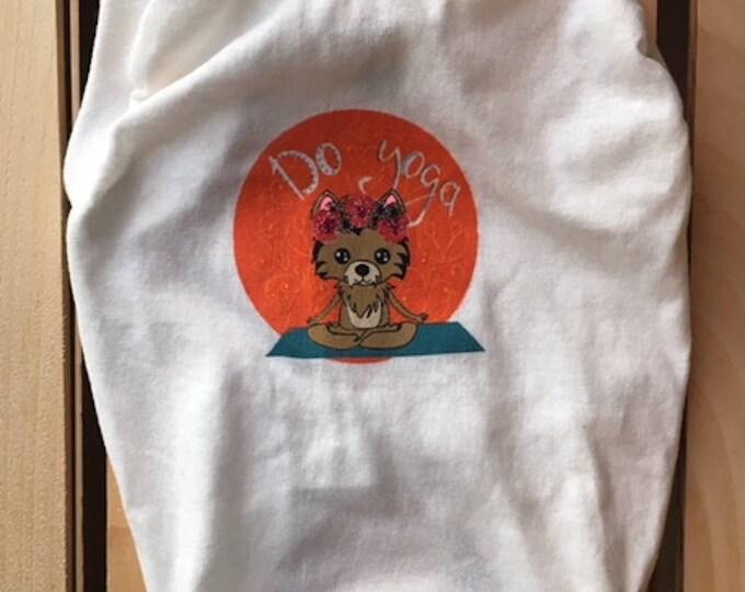Dog T-shirt - Yoga edition/Doga T-shirt / Dog Shirt - Yoga/ Yoga t-shirt for dog/Dog tank tops/ DOGA