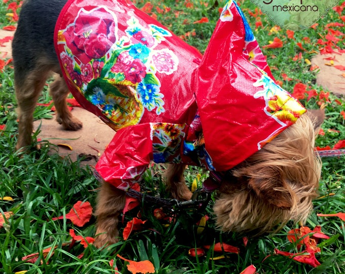 Dog Raincoat / Plastic Raincoat  for dogs/ Raincoats for Pets / Mexican style Raincoat for Dog