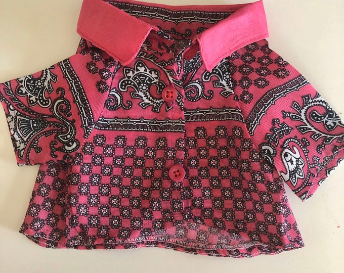 Camisas para perrito rosas/ Camisas San Valentines para perro/ Camisas de algodón para perro/ Camisas rosas de vestir para perrito