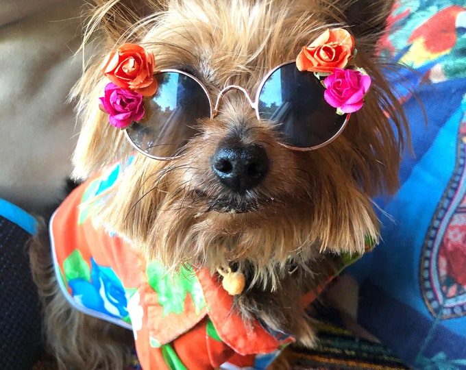 Dog sunglasses/ Flower dog sunglasses/ Dog sunglasses with flowers