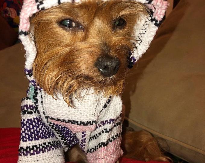 Poncho para perrito/ Ropa Mexicana para perro/ Chamarrita para perro/ Ropa cool para perro/Hoodie para perro