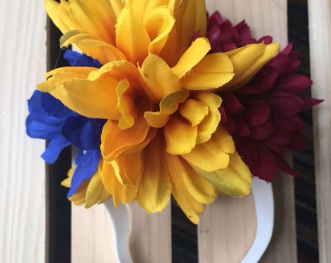 Dog Headbands/ Dog flower Crown/ Dog accessories/ Dog hair Accessories/ Flower Headband/ Day of the Dead headbands