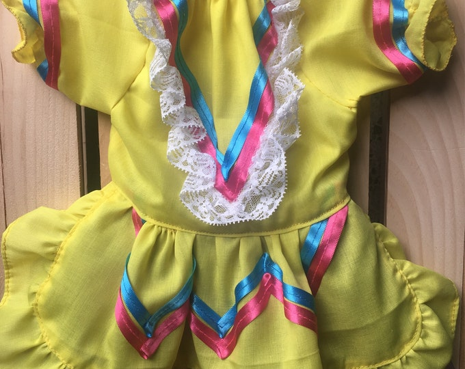 Vestido de Mexicanita para perro/ Disfraz Mexicana para Carnaval Fiesta & Cinco de Mayo/ Mexicanita, Cinco de Mayo dog girl dress