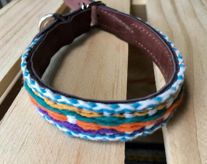 Collares para perro estilo Mexicano/ Collares de piel sintética para perro/ Collares con arte bordado de artesanos de Oaxaca XXS
