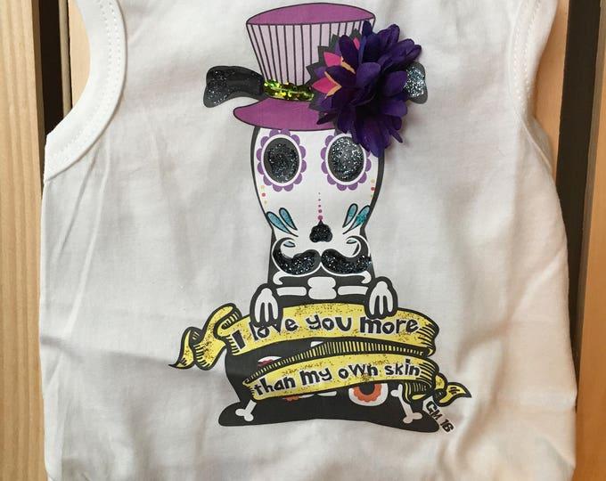 Day of the Dead dog Tank/ Skull catrin & catrina Dog T-Shirts/ Dog Shirts/ Day of the Dead dog shirts/Halloween Dog Shirts