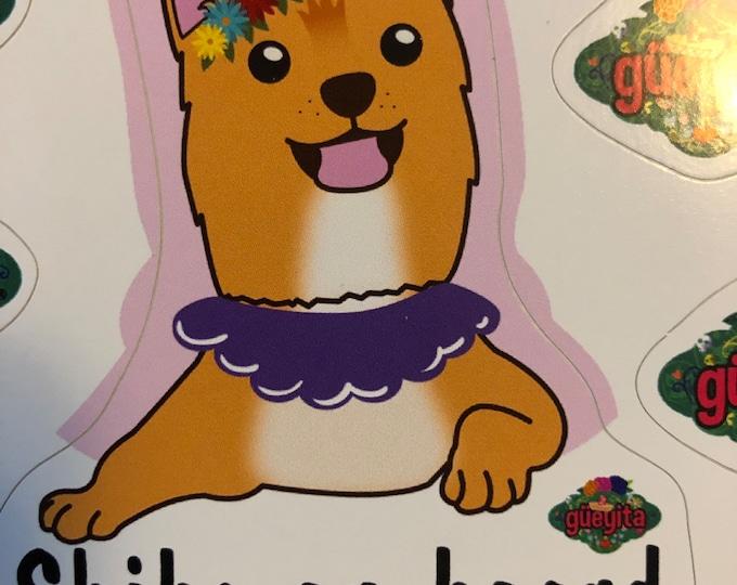 Estampas de perrito para coche/ Stickers de perros edición Shiba Inu