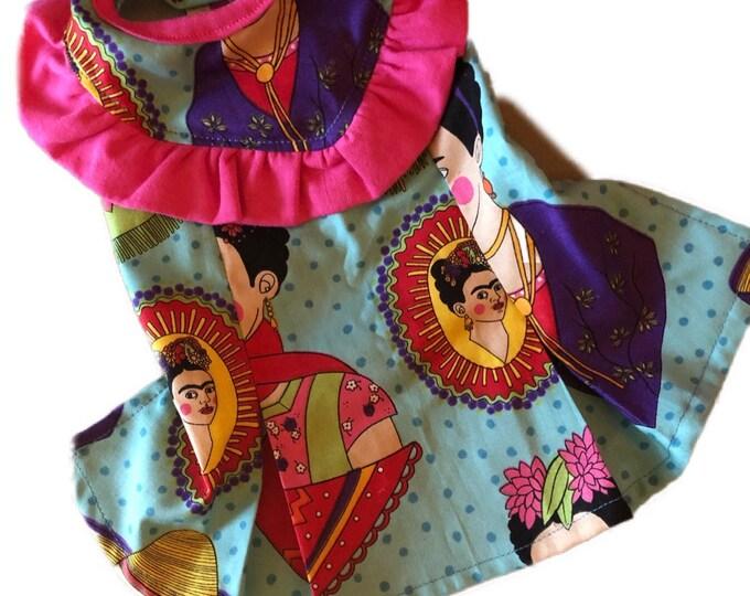 Vestiditos folkloricos para perrita / Vestiditos de Frida Kahlo para perritas/ Vestidos fashion para perro/ Vestido de Frida para perrita