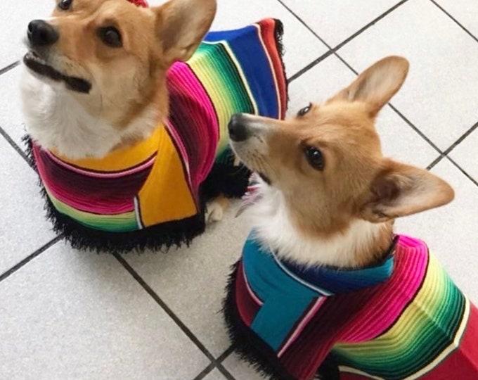 Dog zarape/ Mexican dog cape/ Mexican dog sweater/ Mexican dog coat/ Dog coat zarape style