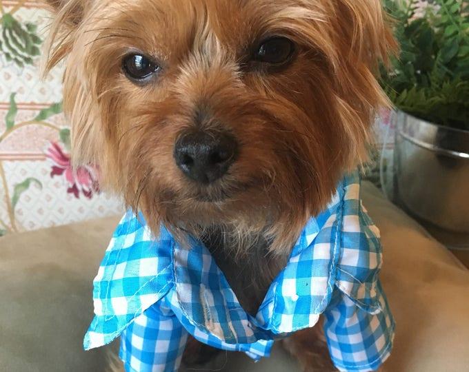 Camisas para perrito/ Camisas para perros pequeños / Camisita de algodon/ Camisita de cuadros para perro/ Camisa casual para perro