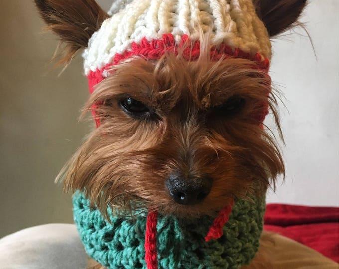 Set de Gorro y Capa para perro/Capitas y gorros hechos a mano, Ropita para perro pequeño /Boutique de perro