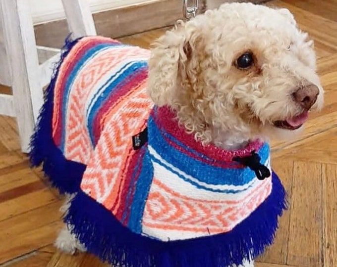 Dog zarape/ Mexican dog cape/ Mexican dog sweater/ Mexican dog coats/ Colorful dog coat